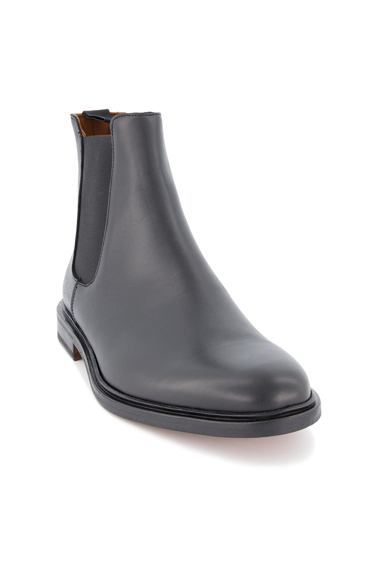 Front angle image of Common Projects Men's Chelsea Boot Leather Black