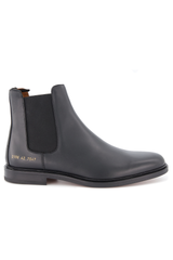 Side view image of Common Projects Men's Chelsea Boot Leather Black