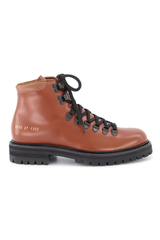 Front image of Women's Common Projects Hiking Boot Tan