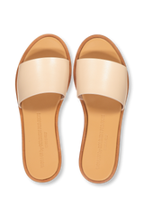 Top View Image Leather Slide Sandal