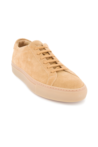 Front angle view image of Common Projects Men's Original Achilles Low Suede Sneaker