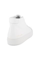 Back angled view image of Common Projects Original Achilles Mid Sneaker Leather White