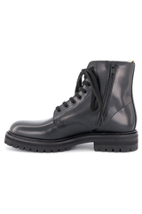 Instep side view of Standard Combat Lug Sole Boot