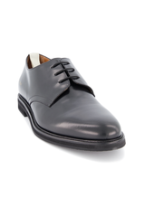 Front angle view of Common Projects Men's Standard Derby Lace Up Shoe Black