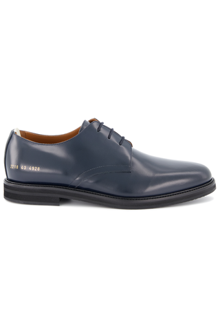 Side view image of Common Projects Men's Standard Derby Lace Up Shoe Navy