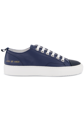 Women's Tournament Low Leather Sneaker Navy