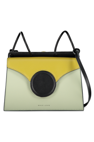 Front image of Danse Lente Mini Phoebe Accordion Bag Mint/Olive