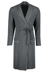 Front view image of Derek Rose Men's Marlowe 1 Men's Jersey Robe Anthracite