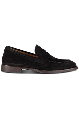 Suede Penny Loafer Nero