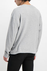 Back Crop Image Of Model Wearing Dubble Works Light Weight Thermal Long Sleeve Shirt