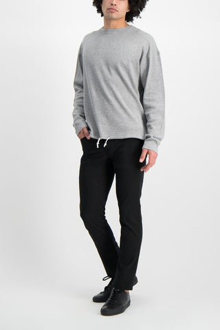 Full Body Image Of Model Wearing Dubble Works Light Weight Thermal Long Sleeve Shirt