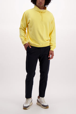 Full Body Image Of Model Wearing Dubble Works Stand Collar Sweatshirt