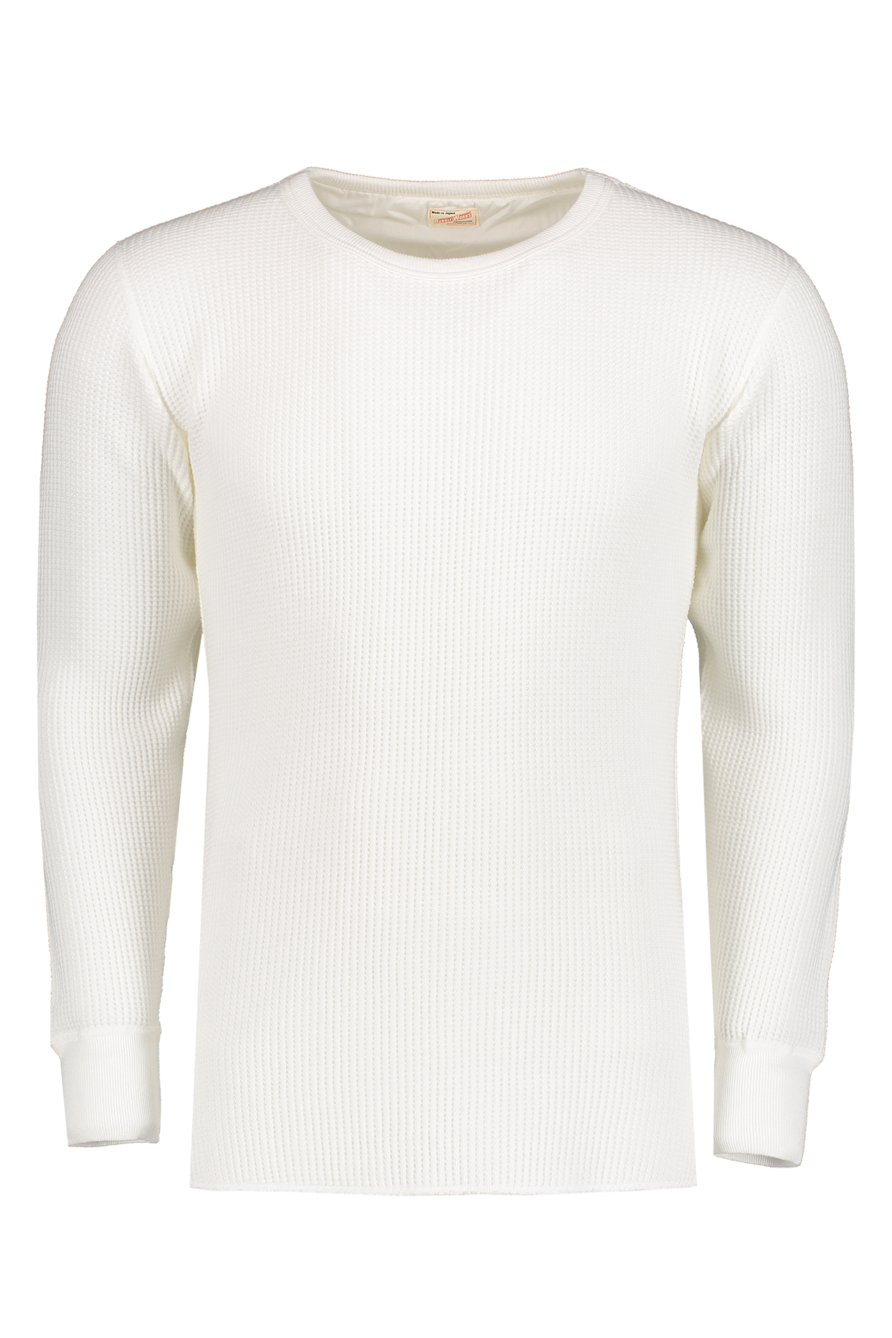 Front Image Of Dubble Works Waffle Thermal T-Shirt White