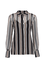 LONG SLEEVE COLLARED SHIRT HARLEY STRIPE BLACK