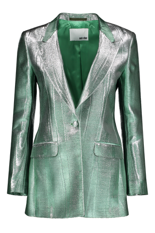 Front view image of Metallic Moire Blazer