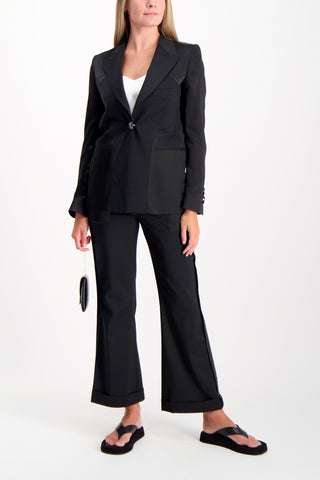 Full Body Image Of Model Wearing Each X Other Reversed Blazer