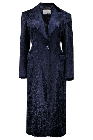 Front view image of Each X Other Vegan Fur Fitted Coat