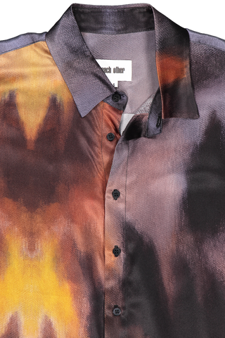 Front collar detail image of Each X Other Wildfire Silk Shirt