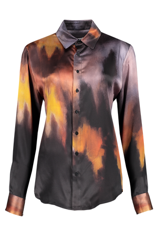 Front image of Each X Other Wildfire Silk Shirt
