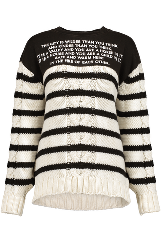 HYBRID FRENCH TERRY SWEATER BLACK WHITE