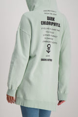 Embroidered Printed Hoodie Mint
