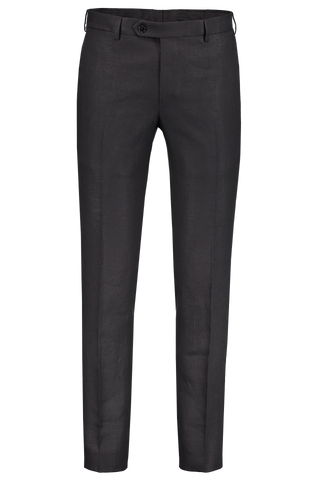 Front Image of Eidos Black Linen Trouser