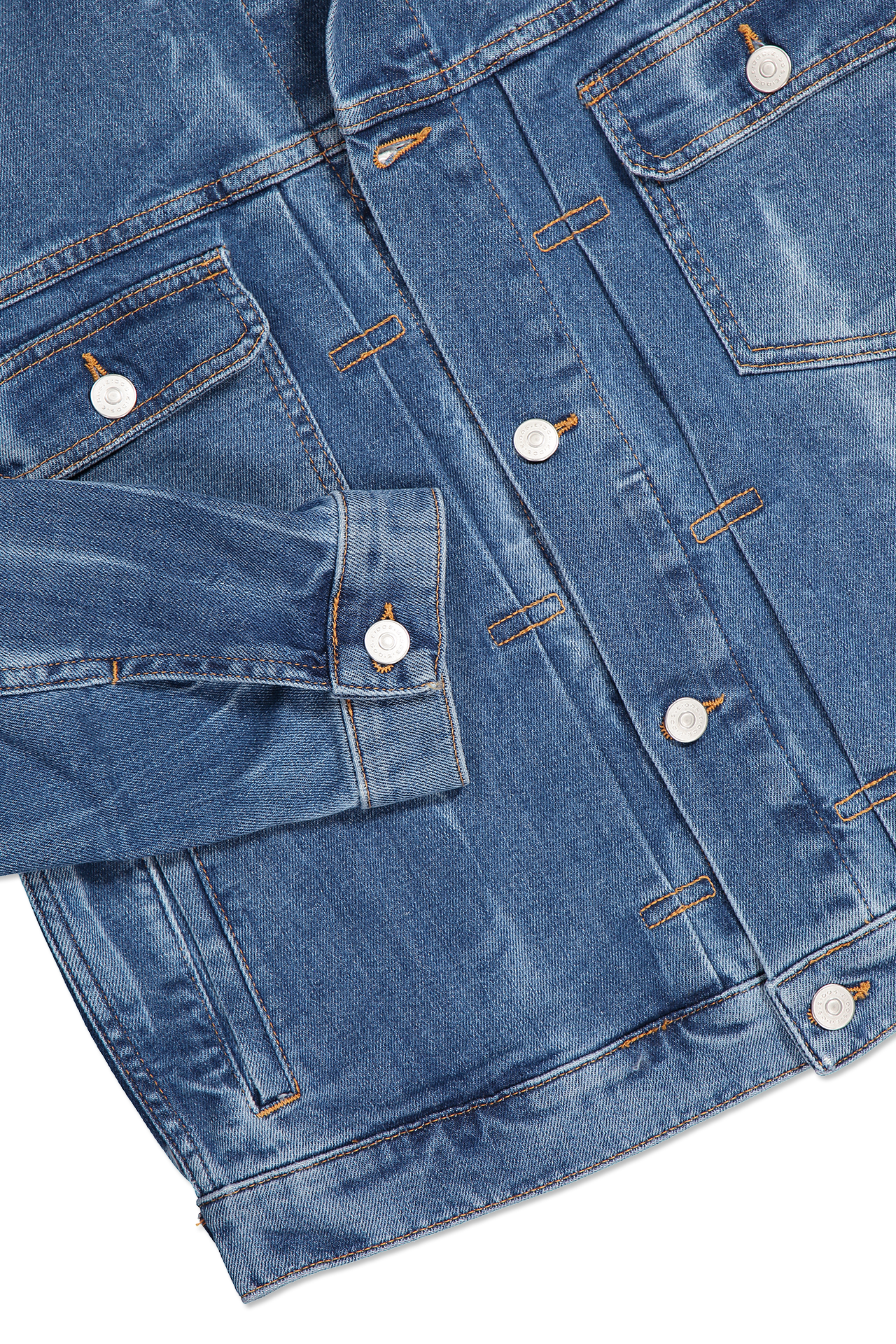Cuff Detail Denim Jacket