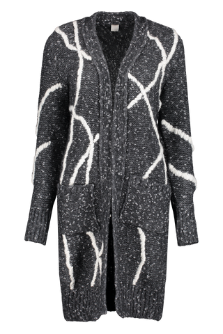 Front view image of Eleventy Long Knitted Cardigan