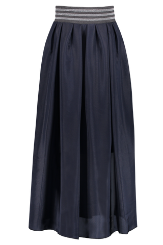 Front image of Eleventy Maxi Skirt Navy