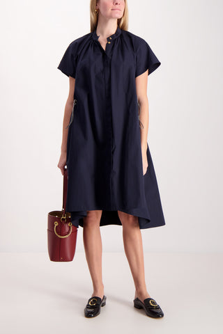 Short Sleeve Poplin Dress