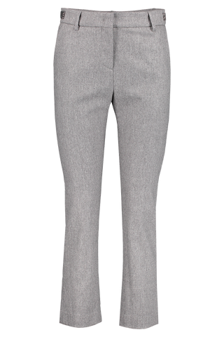 Front view image of Eleventy Wool Slim Trouser Crystal Detail