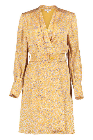 Front view image of Equipment Fanetta Dress Ocre/Multi