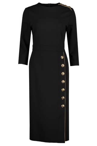 Front view image of Escada Dhenia Dress Black