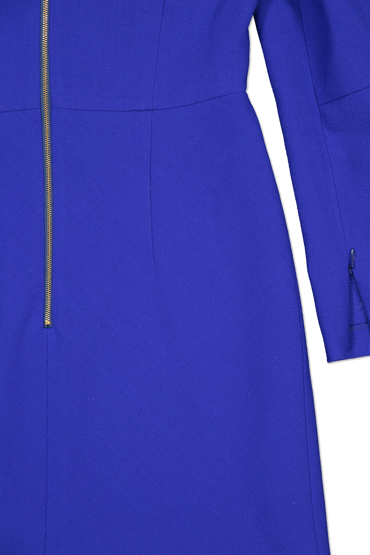 Side hem and cuff slit detail image of Escada Dllea Dress