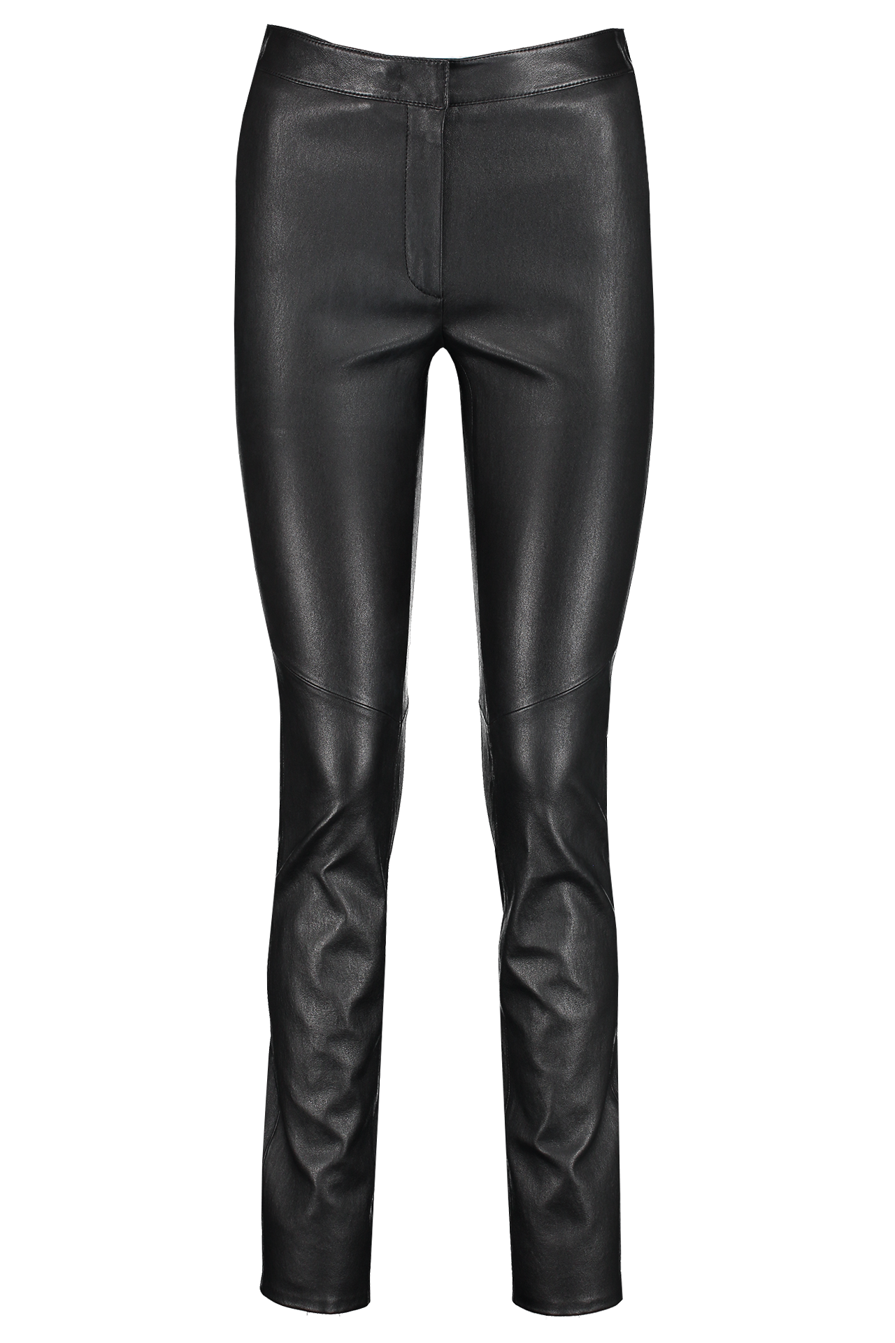 Front view image of Escada Lakera Leather Pant Black