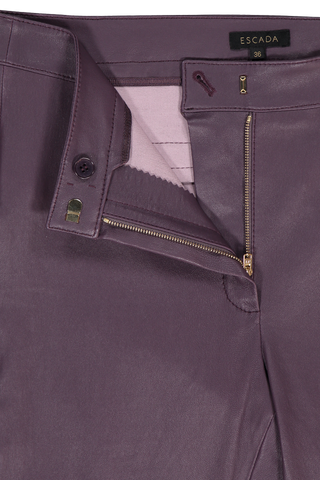 LAKERA LEATHER PANT DARK PLUM