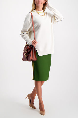 Full Body Image Of Model Wearing Escada Rotta Skirt Foresta