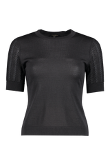 Front view image of Escada Sentian Top Black
