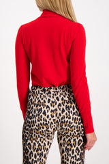 Back Crop Image Of Model Wearing Escada Seton Turtleneck Sweater