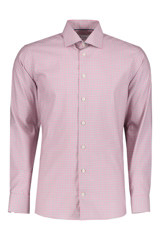 Contemporary Fit Check Dress Shirt Pink