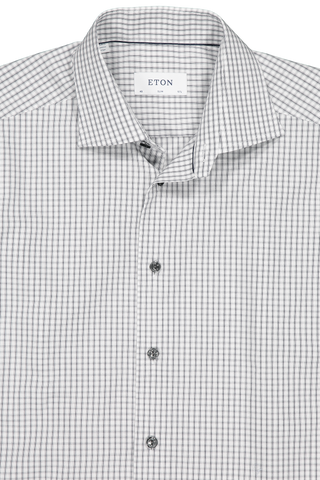 Check Dress Shirt With Tonal Buttons