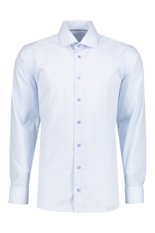 Front view image of Eton Contemporary Fit Plaid with Colored Buttons