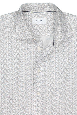 Front collar detail image of Eton Contemporary Fit Floral Print Woven