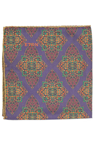 Large Pattern Pocket Square