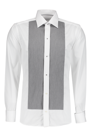 Long Sleeve Formal Woven Slim Cord In Charcoal