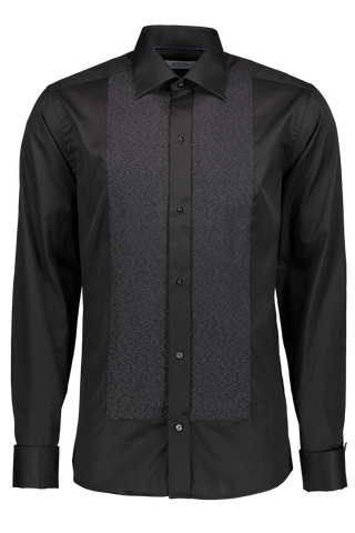 Long Sleeve Slim Fit Pique Woven