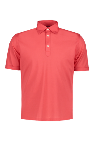Pique Polo Dark Pink/Red