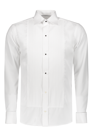 Slim Ribbed Tux Shirt