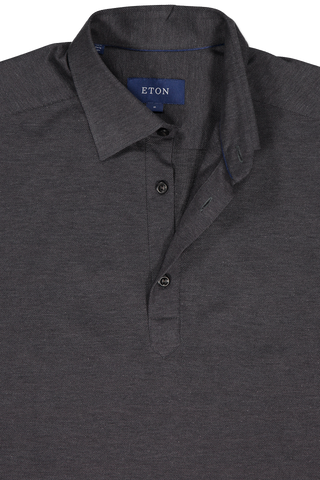 Neck Detail Short Sleeve Navy Popover