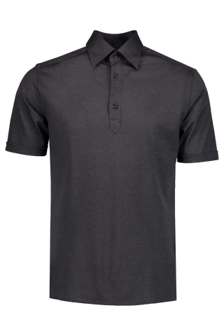Front Image Short Sleeve Navy Popover